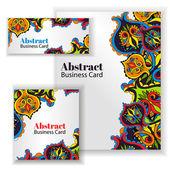Business kaartenset. vectorillustratie. — Stockvector