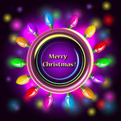 Vector Christmas background with garland. — Stockvektor