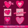 Stock Vector: Happy valentines day cards set.