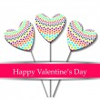 Happy valentines day card. — Stock Vector