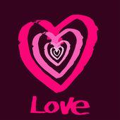Bordo paper heart Valentines day card. — Stock Vector