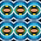 Abstract circle seamless mosaic pattern — Stock Vector