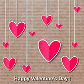 Happy valentines day card. — Stockvector