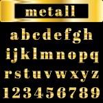 Vector golden alphabet. Illustration EPS 10 — Stock Vector