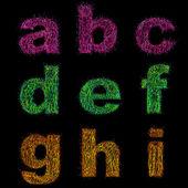 Vector curly alphabet. — Stock Vector
