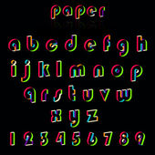 Illustrationof paper crafting alphabets. — Stock Vector