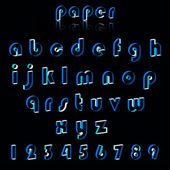 Illustrationof papír řemeslné abecedy. — Stock vektor