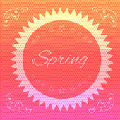 Abstract hexagon spring background - eps10 — Stock Vector