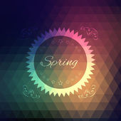 Vector grunge retro triangle spring background — Vettoriale Stock