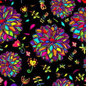 Flower decorative background — Stock Vector
