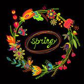Hermoso patrón floral sin fisuras. primavera. — Vector de stock