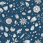 Vector floral seamless pattern illustration. — Stock Vector