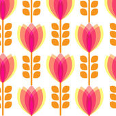 Floral pattern with petal on white background — Stock Vector