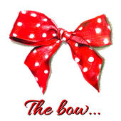 Red vector gift bow with polka dot.  Vector. — Stock Vector