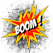 Boom of the dynamite. Comic book explosion. — Stock Vector