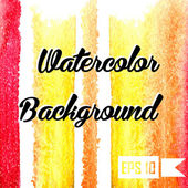 Watercolor vector background. Hand drawing. — Vettoriale Stock
