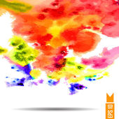Watercolor vector background. Hand drawing. — Vecteur