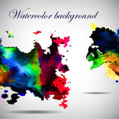 Watercolor vector background. Hand drawing. — Stock vektor