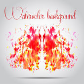 Watercolor vector background. Hand drawing. — Vector de stock