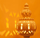 Decorative North African Terracotta Lamp — Stock Photo