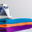 Iron and towels — Stock Photo #27285947