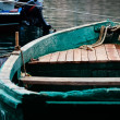 Green old boat in port of Balaclava — Stock Photo #29027447