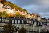 Beautiful architecture of Karlovy Vary, houses, buildings, styli — Stock Photo