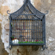 Decorative cage on the street — Stock Photo