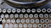 Keyboard antique typewriter — 图库照片