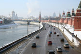 Winter general view at the Moscow. — Stock Photo