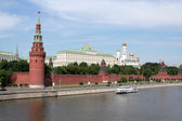 General view at Moscow kremlin and Moskva river. — Stock Photo