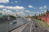 General view at the Moscow center, Russia. — Stock Photo