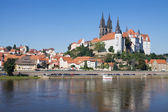 Panoramic view of Meissen in Germany — Stock Photo