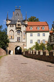 The gate of the Albrechtsburg castle in Meissen — Stock Photo