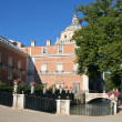 View at the palace of Aranjuez (a museum nowadays) from the park — Stockfoto