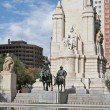 The Cervantes Monument with his literary characters Don Quixote — Stock Photo