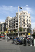 View on Gran Via street in Madrid — Stock Photo