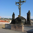 Sculptural group at the Charles Bridge.  — Stock Photo