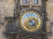 Old Town Square's clock. — Stock Photo