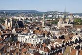 Luchtfoto van dijon stad in frankrijk — Stockfoto