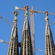 Sagrada Familia Cathedral Towers by Gaudi.  — Stock Photo
