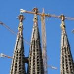 Sagrada Familia Cathedral Towers by Gaudi. — Stock Photo