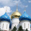 Cupolas of a Russian orthodox church — Stock Photo #28582267