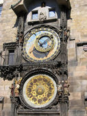 Old Town Square - astronomical clock. Prague, Czech Republic. — Stock Photo