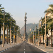 Stock Photo: Columbus boulevard in Barcelona.