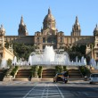 Catalonian national museum MNAC and Magic Fountain in Barcelona — Stock Photo