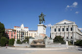 Oriente square i centrala madrid, spanien. — Stockfoto