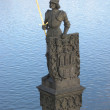 Stock Photo: Statue of knight Bruncvik in Prague