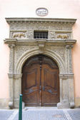 Ancient house door in Prague. — Stock Photo