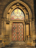 Church's door. Prague, Czechia. — Stock Photo